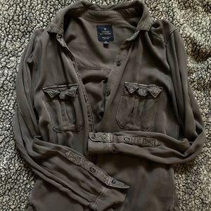 Dark grey Vintage Boyfriend Overshirt